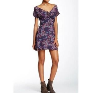 Free People Yours Truly Mini Dress floral Sz 6